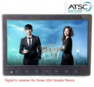 China VCAN1116 10 inch portable ATSC LCD TV monitor 2015 HD FTA digital TV receiver decoder tuner with ant on sale