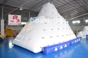 China Inflatable Water Climber / Inflatable Iceberg With Big Stainless Steel Anchor Ring on sale