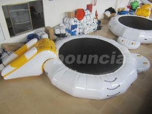 China Inflatable Floating Water Trampoline Combo For Water Park Use on sale