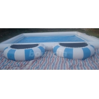 China 0.9mm PVC Tarpaulin Round Outdoor Inflatable Swimming Pool With Platform on sale