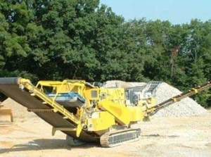 China Track mobile impact crushing plant on sale