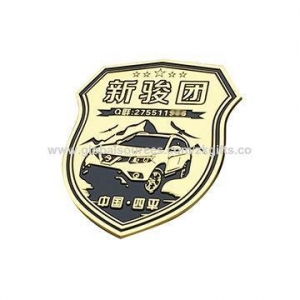 China Customized imitation gold 3D metal badge, customized-shaped and design, OEM/ODM accepted on sale