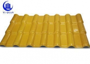 China Anti-UV Lightweight Curved ASA Synthetic Resin Roof Tile Plastic Roofing Sheet on sale