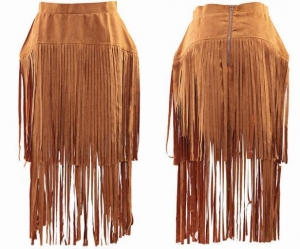 China Women Faux Leather Skirt on sale