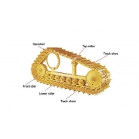 Carrier roller alloy excavator components