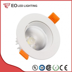 China White Round 9W COB LED Downlight on sale