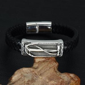 China Bracelets and Bangles Mens Leather Braided Bracelets on sale
