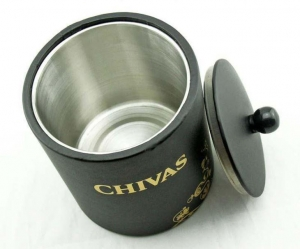 China Hotel Supplies Stainless Steel Double Walled Ice Bucket with Lid on sale