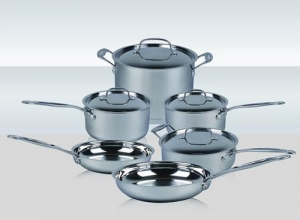 China 10PCS stainless steel cookware set on sale