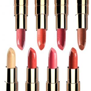 China Pearl Glossy Moist Lip Care Smooth Shiny Glitter Metallic Gold Pink Brown Lipstick Shades on sale