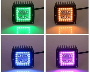 China Color Changing Halo LED Off Road Driving Spotlight 4x4 Lights on sale