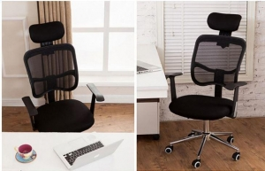 China Comfortable Fabric Swivel Office Chair with Armrest for Executive on sale