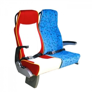 China New Style Deluxe Bus Seat with Food Table, Synthetic Leather Cover for Volvo Coach ,tour Bus on sale