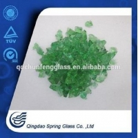 China Colorful Landscaping Tempered Glass Sand/granule for Garden Mulch/decoration on sale