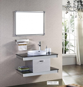 China Stainless Steel Bathroom Wall Cabinet With Light Sliding Mirror Cabinet With Shaver Socket on sale