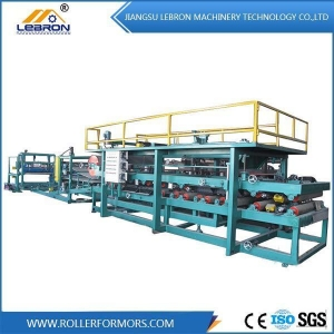 China Color Steel Sandwich Panel Forming Machine on sale