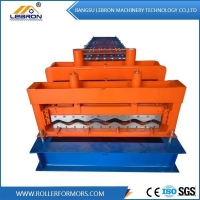 China Color Coated Roof Glazed Roll Forming Machine on sale
