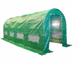 China Garden Polytunnel Greenhouse Poly Tunnel Metal Growing Houses on sale