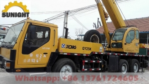 China Used CAT Excavators Used Cranes Used Truck Crane XCMG QY25K 25T, Year 2007 on sale