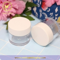 China Customized clear transparent cosmetic PETG 10g plastic jar for face cream on sale