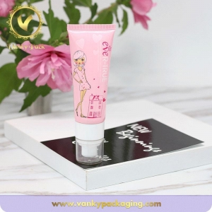 China Biodegradable cute custom cosmetic empty packaging tube with pump top on sale