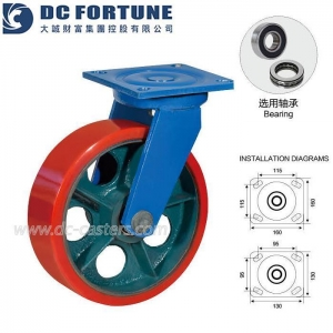 China Heavy Duty Polyurethane Swivel Caster on sale