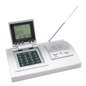 China 8 digit calculator with FM auto scan radio, world time calendar, alarm clock. on sale