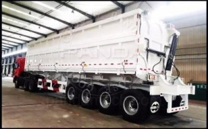 China Tipping Dumper Trailer 4Axle Side Tipper on sale