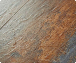 China Slate Emboss Stone Vinyl Tile on sale