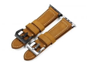 China Vintage Real Calf Watch Strap Replace 38mm 42mm Iwatch Apple Watch Band on sale