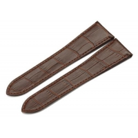 25mm Cowhide Genuine Leather Watch Band Strap for Cartier Tank