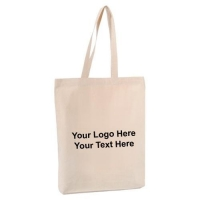 Canvas Tote Bags Promotional Logo 12 Oz Natural Cotton Tote Bags