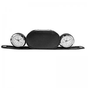 China 10-1020 Dual Time Alarm Clock/Black Case supplier