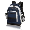 China 60-BP-08BL Multi-Pocket Travelers Backpack, Blue for sale