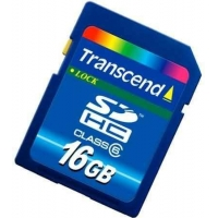 HS-Transcend 150X Class 6 16GB SDHC Memory Card