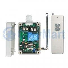 China Single Channel 2000M Long Range 30A DC Power Output Waterproof Wireless Remote Control Kit on sale