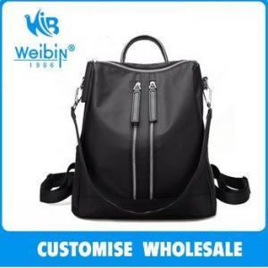 China Fashional Leisure 2017 Waterproof Japanese Nylon Black Backpack on sale