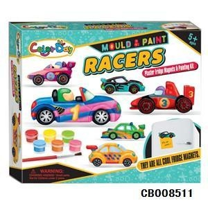 China Girl Toys Creative handmade DIY plaster painted toys fridge Stickers - Racing on sale