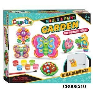 China Girl Toys Creative handmade DIY plaster painted toys fridge Stickers - Garden on sale