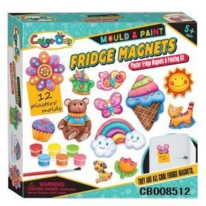 China Girl Toys Creative handmade DIY plaster painted toys fridge stickers on sale