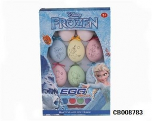China Girl Toys Frozen DIY color painted egg toy on sale