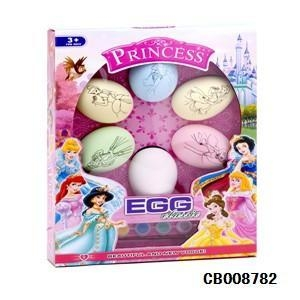 China Girl Toys Pricess DIY color painted egg toy on sale
