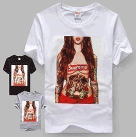 China T-shirts OrderSupreme t shirt tattoo girl tee kermit the frog x on sale