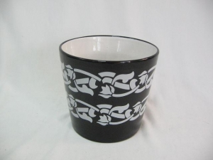 China Ceramic Flower Pot with Decal Printing on sale