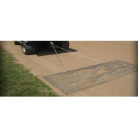 Steel drag mat reversible, flexible and versatile