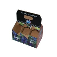China Kraft 6 Bottle Wine Packing Carrier Box For Gift on sale