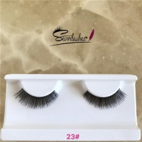 23# Factory Price Competitive Price clear band false eyelashes hand made premium lashes human hair e