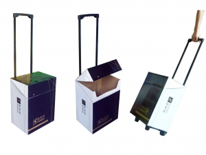 China Cardboard paper trolley on sale