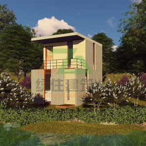 China Elegant OSB Prefab Cottage House in Farm and Forest Even Suburb with Balcony on sale