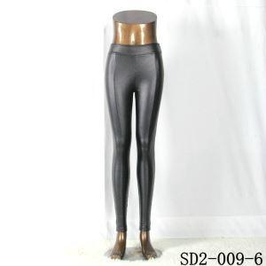 China Knitting faux pu Leggings Women's Sexy Slim Stretchy PU Leather Pencil Leggings on sale